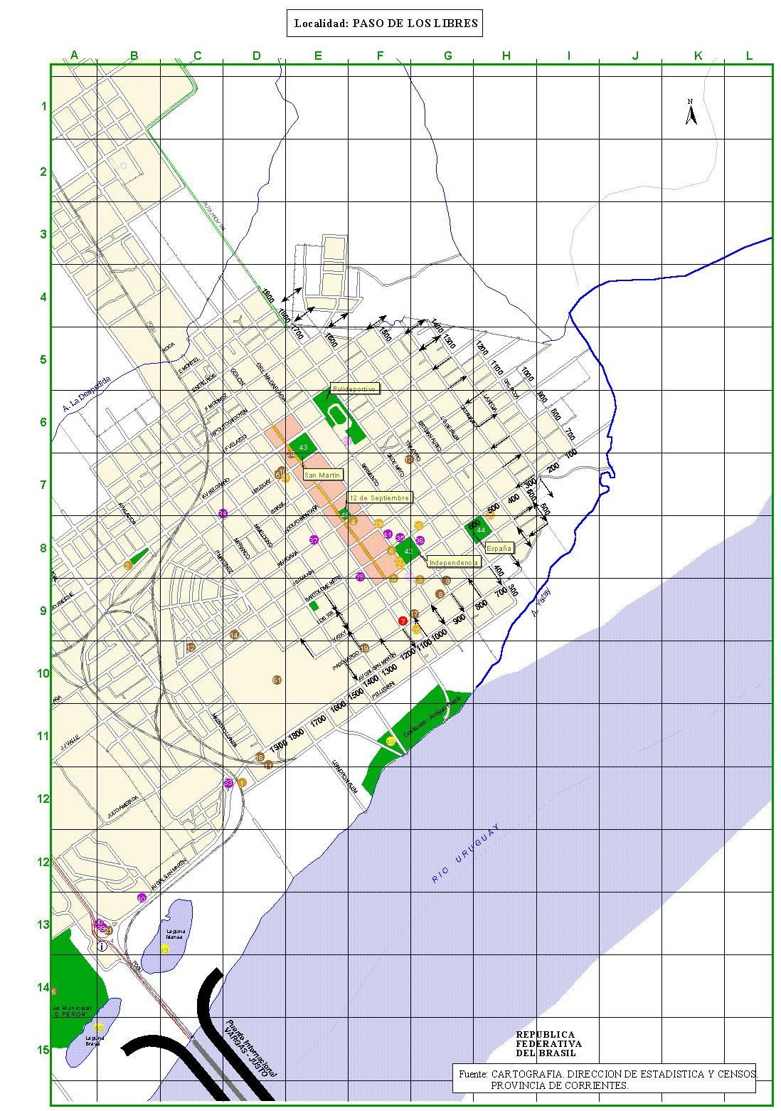 Paso de los Libres - Corrientes - Argentina/Plano ciudad.jpg